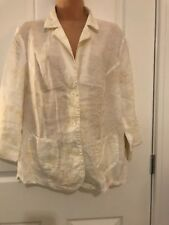 Ladies Pretty Cream Cotton Blend Jacket Size 10-12