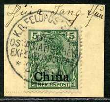 DP China  16  Briefstück  KD Feldpostexpedition b