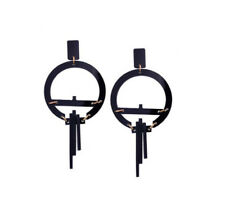 MARNI H&M Round Geometric Earrings - Black