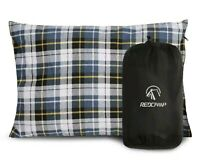 REDCAMP Outdoor Camping Pillow Lightweight Flannel Travel Pillow Removable Cover