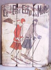 Moritz Skiläufer Art Deco Bild Femme Fatale Vintage Wanddeko Antik Streng Wandbild St Bilder & Drucke Design & Stil