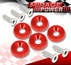VIP M6X20MM Engine Hood Fender Washer Bolt Billet Anodized Kit Red For Cadillac photo