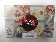 COFFRET LIVRE RECETTE PAIN D'EPICE ET BISCUIT + EMPORTE PIECE HACHETTE (1.1041)