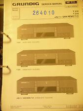 Service Manual Grundig T 210/T 310,T 21 Tuner,ORIGINAL
