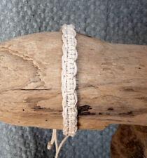 Bracelet amitié homme ou ado en 100 % coton blanc N° 2