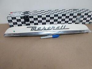 Maserati Ghibli License Plate Light Bar - Pearl White # 670017287