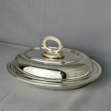 More details for antique barker brothers oval shaped entrée dish tray with lid birmingham 1900s