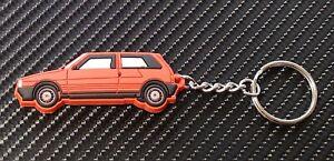 Fiat Uno Ie Turbo Car Key Anello - RED