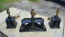 Art Deco Lamps. 3 Pcs. Set Garniture