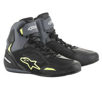 Alpinestars FASTER 3 Blk Grey/Fluo Drystar Commuter Motorcycle Riding Shoe Boots