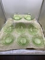 Pyrex Spring Green Festiva Soup Cereal Bowls  Set of 8 Swirl Rim