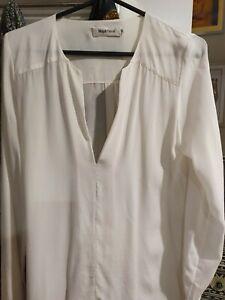Magali pascal Size Medium Silk Long Sleeve Blouse