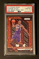 2018 Panini Prizm DeAndre Ayton Rookie Fast Break Prizm Red /125 RC #279 PSA 10