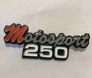 MOTOSPORT 250 EXHAUST HEAT SHIELD BADGE for HONDA 1972 1973 XL/SL250 Emblem HS54