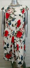 Woman ABS by Allen Schwartz DRESS Size 16 OCCASION Pleated back keyhole floral