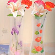 2x Plastic Unbreakable Foldable Reusable Flower Home Decor Vase Color Random ##