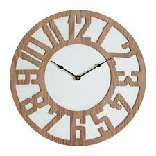 Vitus Carved Wood Wall Clock Time Crisp White Background Home Office Wooden New