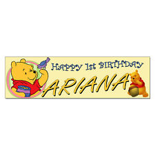 Personalized & Custom Printed Winnie the Pooh Bear Birthday Party Banner Poster