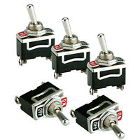 5pcs 12V Heavy Duty Toggle Flick Switch ON/OFF .Car Dash Light Metal SPST-