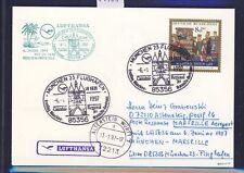 55958) LH FF München - Marseille France 6.1.97, Karte EF Weihnachten