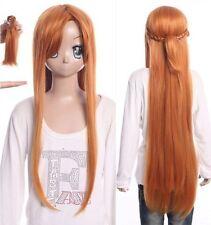 W-500 tipo Sword online Yuuki Asuna rubio marrón 105cm cosplay peluca wig
