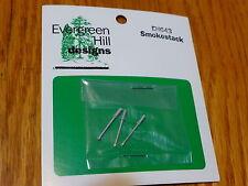 Evergreen Hill Designs HO #643 Smokestack (Light Cast Metal) 3 pcs