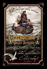 BLACKBEARD PIRATE GARY LIPPINCOTT NEW VINTAGE TIN METAL SIGN FANTASY FREE PRINT