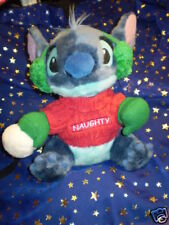"Christmas Snowball Naughty Plush 10"" Disney Lilo Stitch"