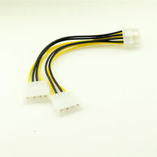 8 Pin EPS12V ATX to Dual Molex 4 Pin Male Motherboard Power Supply Adapter Cable