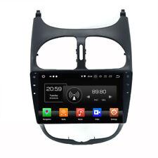 Android 8.0 Octa Core de voiture GPS de navigation stéréo pour Peugrot 206