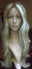 MOKLOX HUMAN HAIR WIG - Glueless SILK TOP Lace - ROOTED BLONDE BROWN Beach Wave
