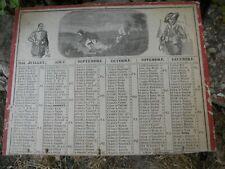 Calendrier du début XIXe siècle, Almanach de Cabinet 1846 Chasse personnages