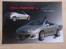 Peugeot 206 CC Sport-Look by Abbes Prospekt / Brochure / Depliant, D/GB/F