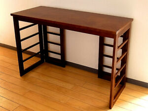 Toyooka Craft Wooden Writing Desk Lattice Design 110 x 45 x 72cm from japan