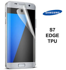 For Samsung Galaxy S7 Edge - FULL SCREEN Face Curved TPU Screen Protector Cover