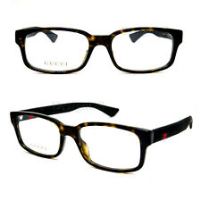 GUCCI GG 0012O 002 Tortoise 54/18/145 Eyeglasses Rx Made in Italy - New