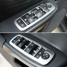Matte Door Window Lifter Switch Button Trim Cover Frame For Jeep Cherokee 14-16