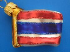 THAILAND MINI FLAG EUROPEAN BLOWN GLASS CHRISTMAS TREE ORNAMENT INTERNATIONAL