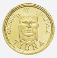 "VENEZUELA     ""Tiuna""     INDIAN CHIEFS   - - - - - -(RARE GOLD COIN)"