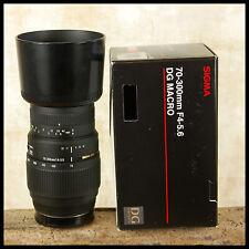 Sony Alpha A DIGITAL fit Sigma 70 300mm DG Macro 1:2 Tele Zoom FREE UK POST