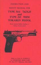 TOKAREV TYPE 54-1 7.62X25 & TYPE 213 9MM Pistol Manual Handbook