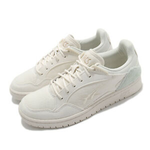 Asics Skycourt  Cream White Suede Women Casual Lifestyle Shoes 1202A133-100