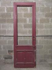 ~ ORNATE ANTIQUE  VICTORIAN ENTRY DOOR  ~ 32 X 93 ~ ARCHITECTURAL SALVAGE ~