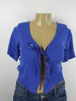 Torrid Women's Royal Blue Open Front Short Sleeve Cropped Shrug Plus Size 3