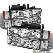 94-98 C10 C/K Full Size Silverado Tahoe Suburban Headlights+Signal Corner+Bumper