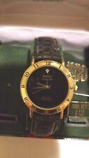Authentic Paolo Gucci Diamond Watch, Black Strap - Men's