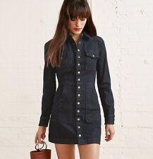 Reformation Blue Denim Hartley Fitted Mini Dress Sz 4