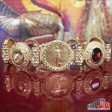 22K Gold American Eagle Coin Etruscan 14K Bracelet Estate Mens Ladies Gemstone