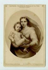 Vintage Cabinet Card Painting Madonna of Saint Sisto by Raphael