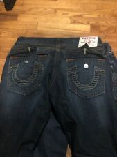 True Religion Billy Super T, Sz. 34x32, Heavy Rope Stitch, *EUC* $299 MSRP